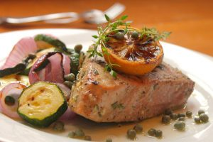 Grilled marinated red tuna