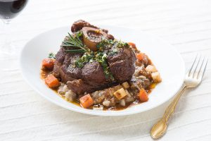 Veal ossobuco in its juice